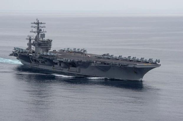 Rut tau USS Nimitz ra khoi Vung Vinh, My ha nhiet cang thang voi Iran? hinh anh 1