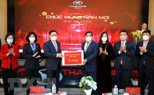 Bi thu Thanh uy Ha Noi Vuong Dinh Hue tham Tap doan Thanh Cong hinh anh 1