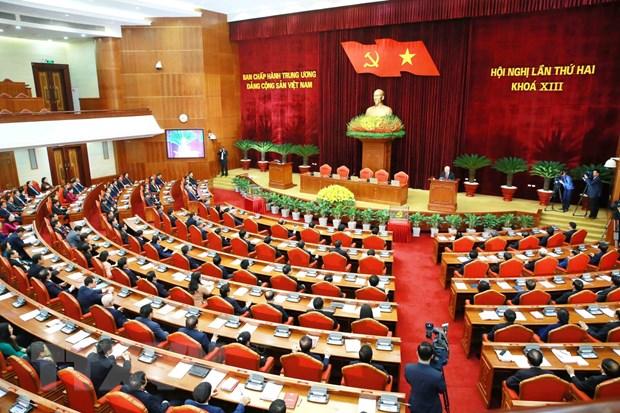 Thong bao Hoi nghi lan thu hai Ban Chap hanh Trung uong khoa XIII hinh anh 1