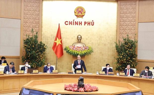 Nghi quyet hop Chinh phu thang Hai: Tap trung thuc hien muc tieu kep hinh anh 1