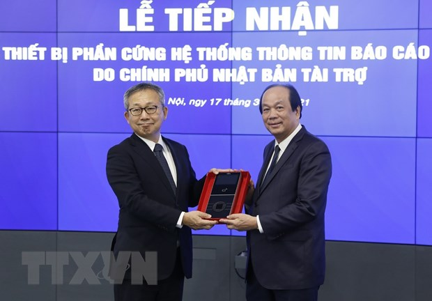Tiep nhan tai tro cua Nhat cho He thong thong tin bao cao Chinh phu hinh anh 1
