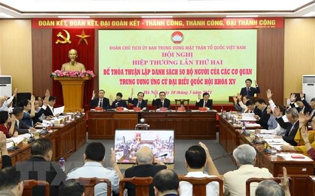 Doan Chu tich Uy ban MTTQ Viet Nam to chuc Hoi nghi Hiep thuong lan 2 hinh anh 2