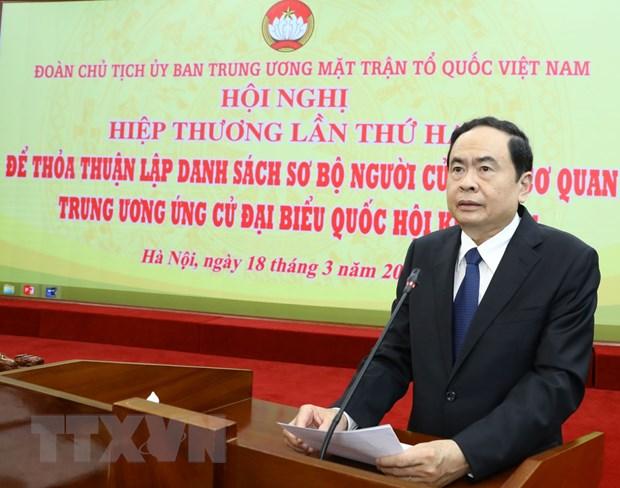 Doan Chu tich Uy ban MTTQ Viet Nam to chuc Hoi nghi Hiep thuong lan 2 hinh anh 1