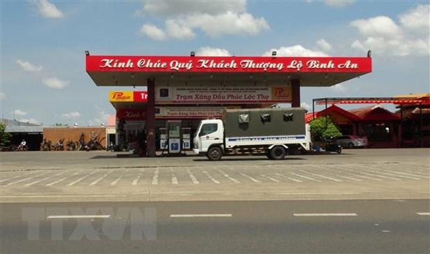 Phong toa tram xang o Binh Phuoc: Kiem tra khong phat hien vi pham hinh anh 1