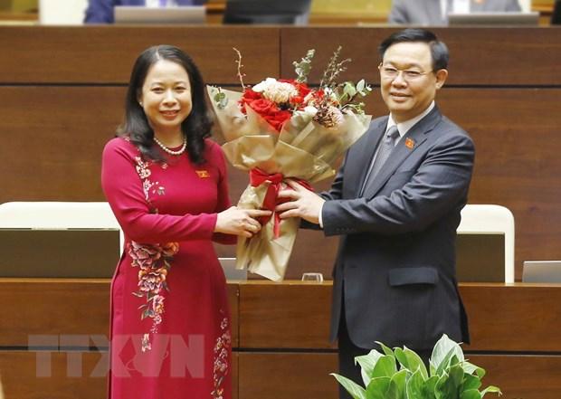 Ba Vo Thi Anh Xuan duoc bau giu chuc Pho Chu tich nuoc hinh anh 1