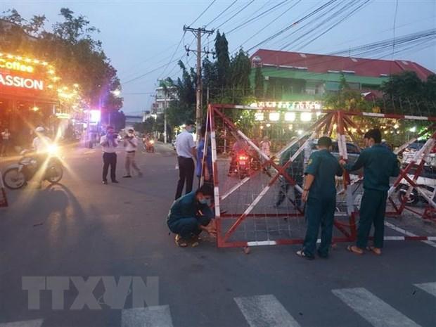 Binh Duong: Do bo phong toa khu vuc cach ly tai phuong An Phu hinh anh 1