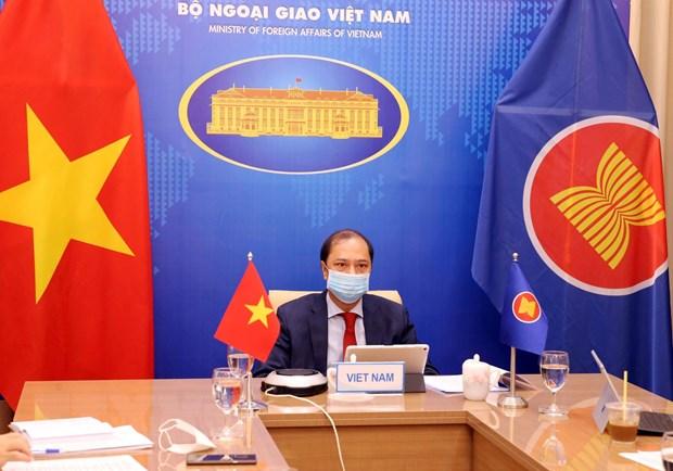 Thu truong Nguyen Quoc Dung tham du Doi thoai ASEAN-My lan thu 34 hinh anh 1