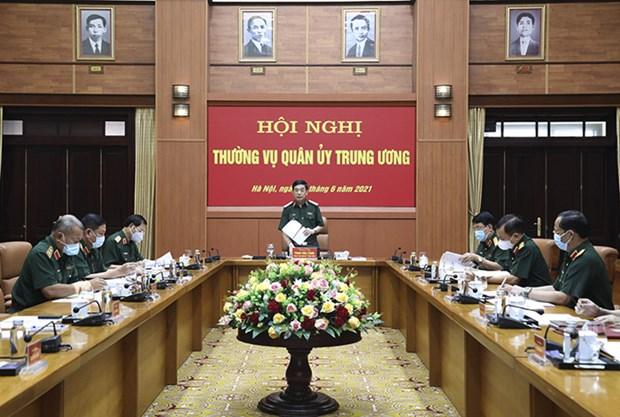 Bo truong Phan Van Giang chu tri Hoi nghi Thuong vu Quan uy Trung uong hinh anh 1