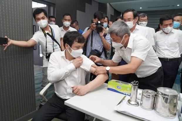 Khoi dong chien dich tiem chung vaccine tai Thanh pho Ho Chi Minh hinh anh 1