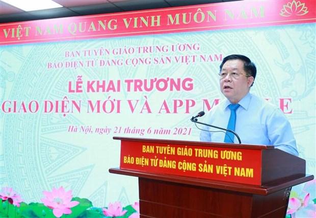 Bao dien tu Dang Cong san Viet Nam ra mat giao dien moi va App Mobile hinh anh 1