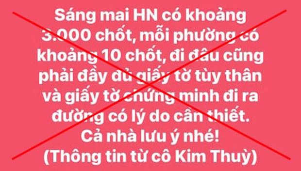 Ha Noi, Gia Lai truy tim, xu ly doi tuong thong tin sai su that hinh anh 1