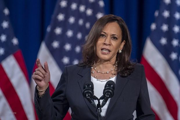 Phó Tổng thống Mỹ Kamala Harris. (Ảnh: AFP/TTXVN)
