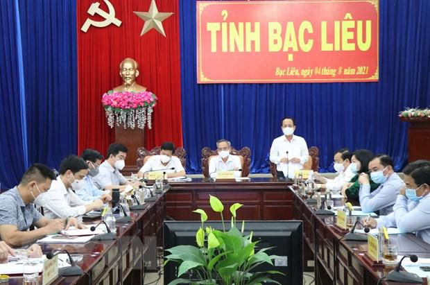 Thu truong Do Xuan Tuyen: Bac Lieu can day nhanh tien do tiem vaccine hinh anh 1