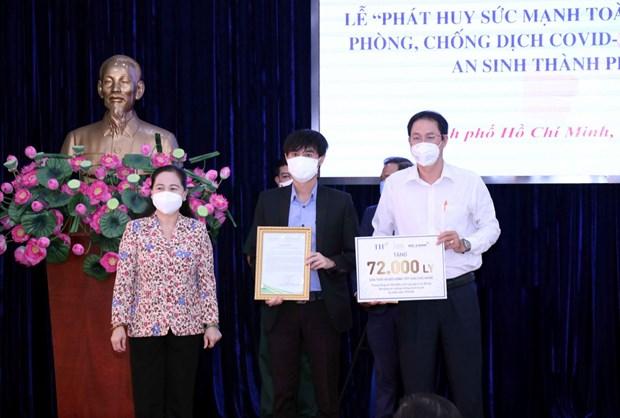 Tap doan TH ung ho TP. Ho Chi Minh phong chong dich COVID-19 hinh anh 1