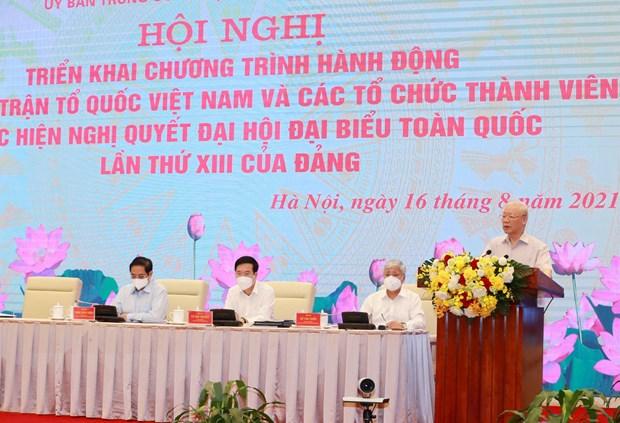 Tong Bi thu: Phan dau thuc hien thang loi toan dien Nghi quyet DH XIII hinh anh 3