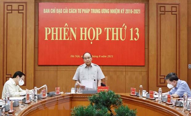 Chu tich nuoc Nguyen Xuan Phuc: Xet xu truc tuyen la xu the tat yeu hinh anh 1