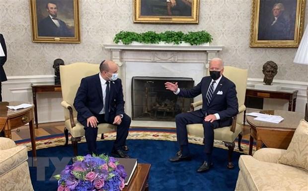 Tong thong My Joe Biden hoi dam voi Thu tuong Israel tai Nha Trang hinh anh 1