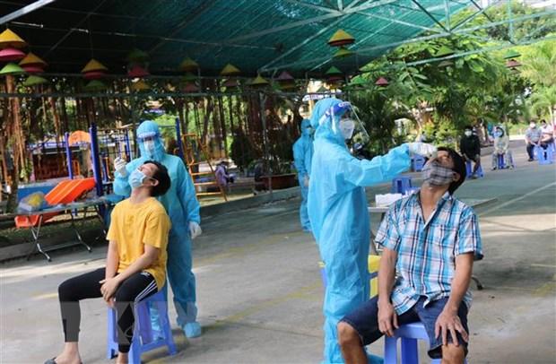 Dong Thap xet nghiem sang loc SARS-CoV-2 dien rong trong 5 ngay hinh anh 1
