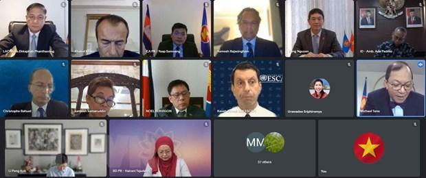 ASEAN-Lien hop quoc ra soat tien do trien khai cac du an hop tac hinh anh 1