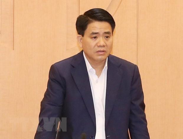 Cựu Chủ tịch Ủy ban Nhân dân thành phố Hà Nội Nguyễn Đức Chung. (Nguồn: TTXVN)