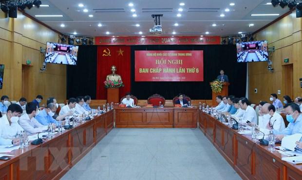 Hoi nghi Ban Chap hanh Dang bo Khoi cac co quan Trung uong lan thu 6 hinh anh 1
