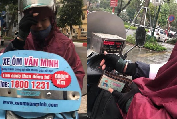 """Khach hang to xe om Van Minh """"chat chem"""" 10km voi gia 500.000 dong hinh anh 1"""