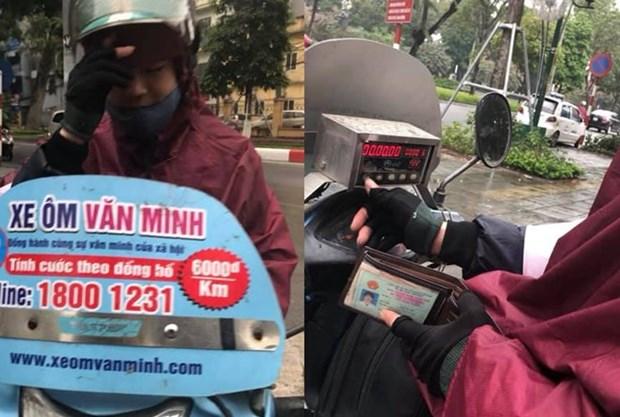 Tai xe xe om Van Minh hoan tien, xin loi vi