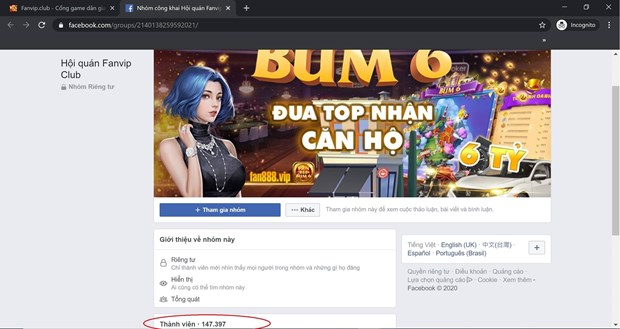Xuat hien duong day danh bac cong khai lap ca fanpage, group Facebook hinh anh 5