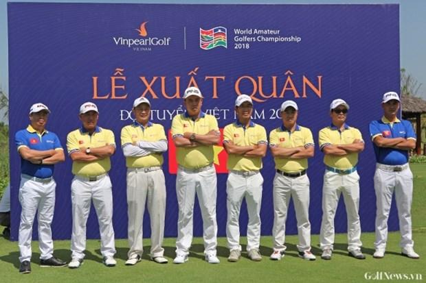 Doi tuyen Golf Viet Nam bao ve thanh cong vi tri so 1 Giai WAGC 2018 hinh anh 2