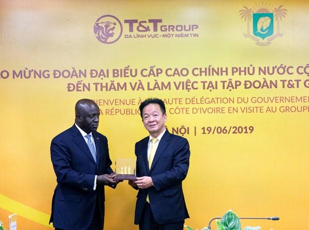 Bo truong Ngoai giao Cong hoa Cote d'Ivoire tham va lam viec tai T&T hinh anh 3