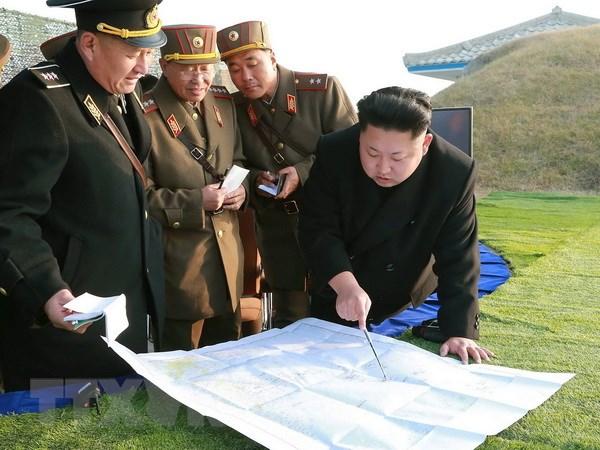 Ong Kim Jong-un tham don vi quan doi va chi dao tap tran hinh anh 1