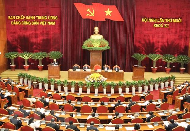 Khai mac Hoi nghi lan thu 10 Ban Chap hanh Trung uong Dang hinh anh 1