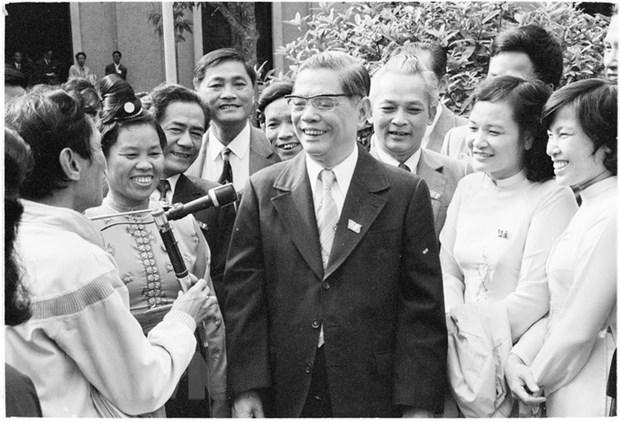 Tong Bi thu Nguyen Van Linh voi