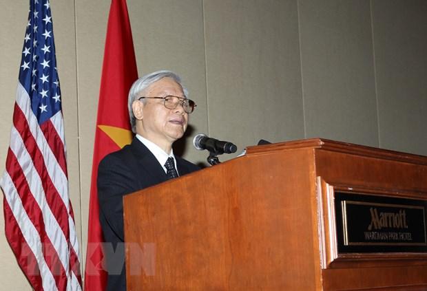 Toan van bai noi chuyen cua Tong Bi thu Nguyen Phu Trong tai CSIS hinh anh 1