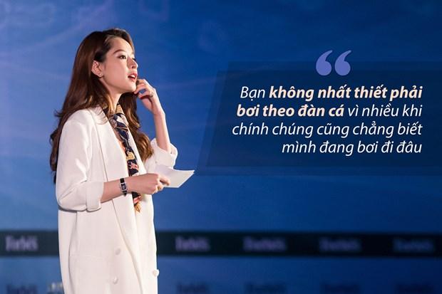 Bai dien van gay sot cua Chi Pu tai Forbes Talks Vietnam 2017 hinh anh 4