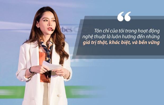 Bai dien van gay sot cua Chi Pu tai Forbes Talks Vietnam 2017 hinh anh 6