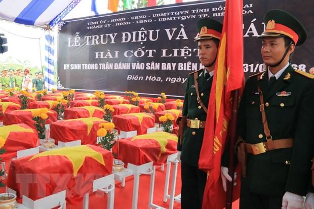An tang hai cot liet sy hy sinh trong tran danh san bay Bien Hoa 1968 hinh anh 1