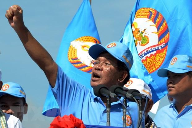 Thu tuong Campuchia Hun Sen tuyen bo se lanh dao dat nuoc them 10 nam hinh anh 1