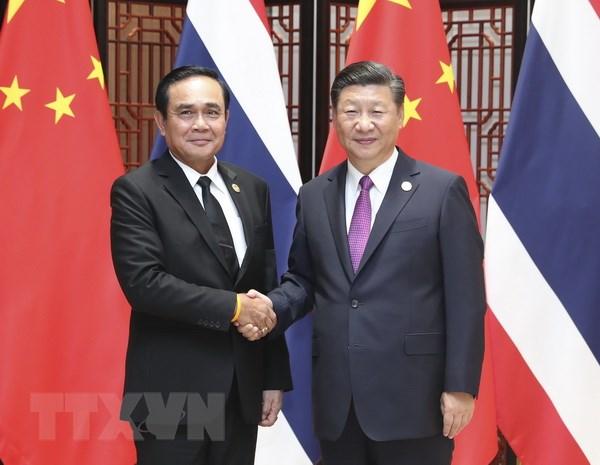 Cac nha lanh dao Thai Lan va Trung Quoc cam ket tang cuong hop tac hinh anh 1