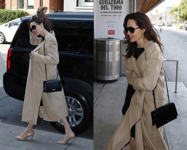 Angelina Jolie thanh lich dam chat Phap voi tui xach cua Saint Laurent hinh anh 1