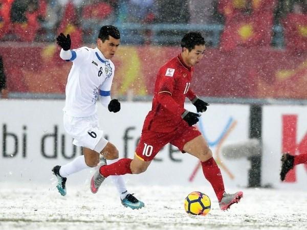 """Nha tho Nguyen Thuy Kha va ngau hung """"Rap U23 Viet Nam"""" hinh anh 2"""