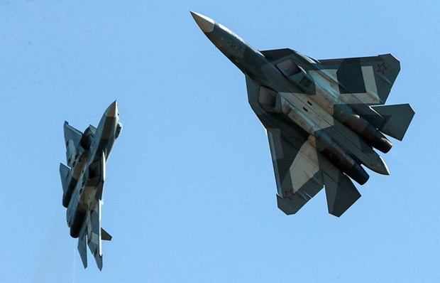 Bo Quoc phong Nga chuan bi mua 12 may bay chien dau tang hinh Su-57 hinh anh 1