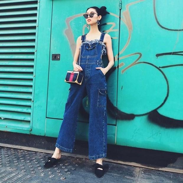Trang phuc denim phu song street style cua my nhan Viet tuan qua hinh anh 5