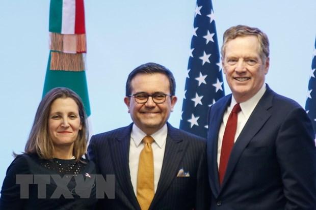 Mexico, My va Canada huong toi mot thoa thuan so bo ve NAFTA hinh anh 1