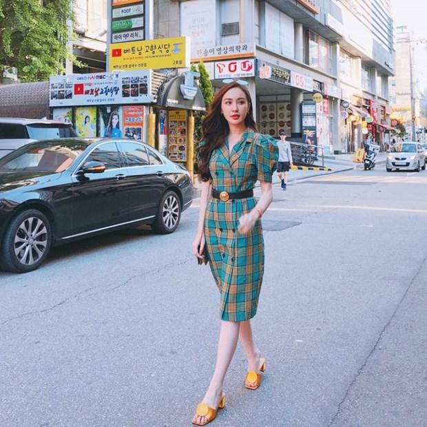 Ky Duyen, My Linh va Huong Giang do street style ngap tran hang hieu hinh anh 14