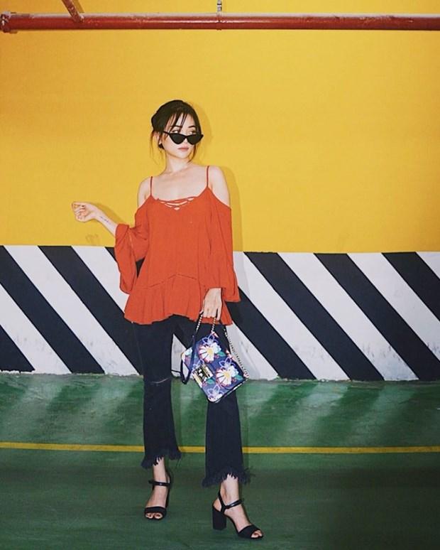 Ky Duyen, My Linh va Huong Giang do street style ngap tran hang hieu hinh anh 10