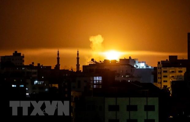 Khong quan Israel danh trung 10 muc tieu cua Hamas tai Dai Gaza hinh anh 1