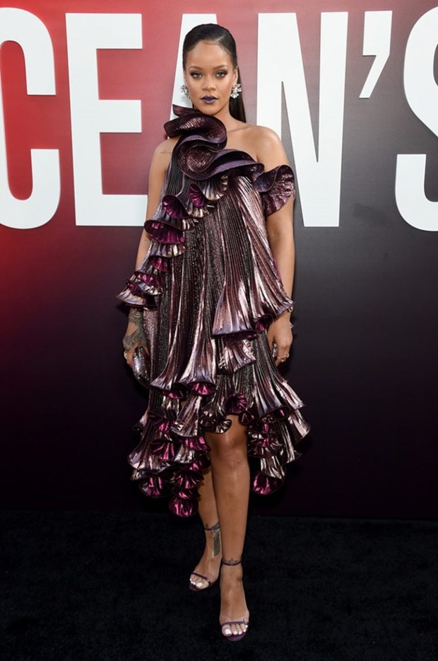 Rihanna sang chanh tuyet doi tren tham do ra mat phim Ocean's 8 hinh anh 1