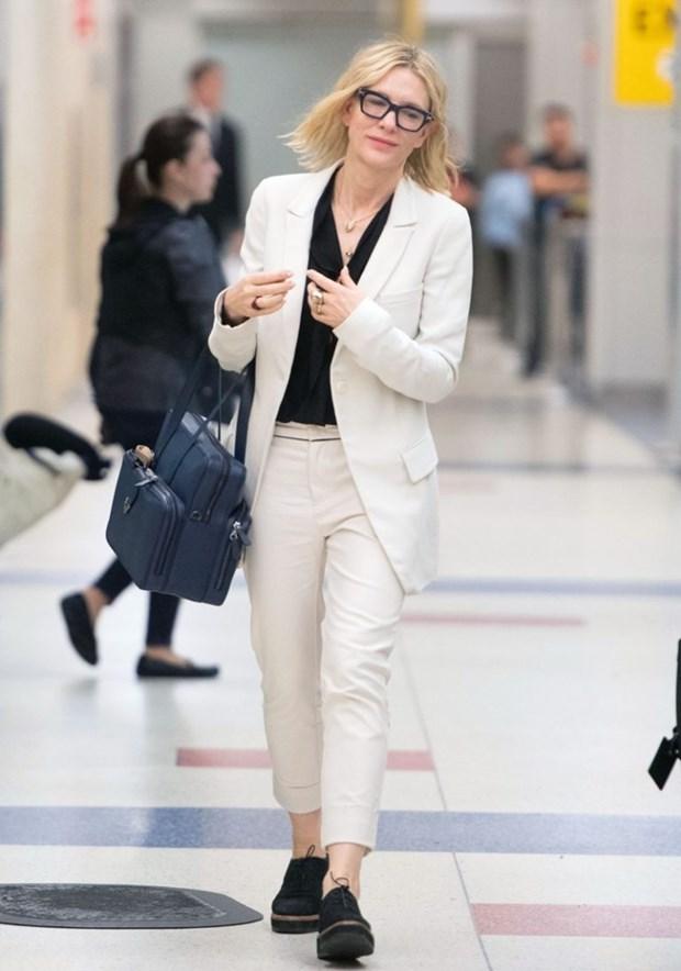 "Dien vien Cate Blanchett - ""Ba hoang"" cua nhung bo suit thoi thuong hinh anh 7"