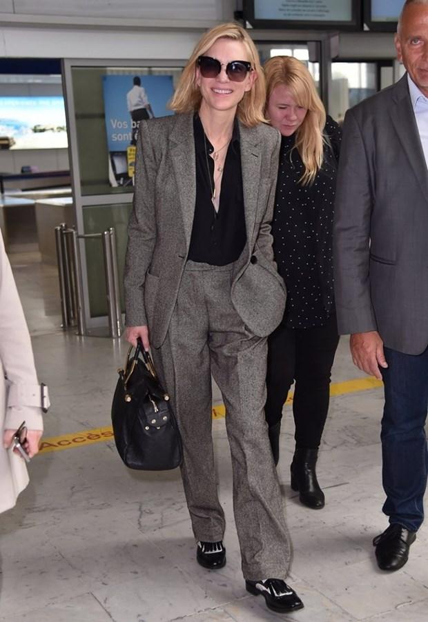 "Dien vien Cate Blanchett - ""Ba hoang"" cua nhung bo suit thoi thuong hinh anh 13"